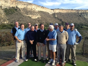 The IGCN Interclub team at Episkopi Golf Club in 2012.